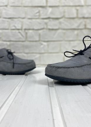 Туфли geox original кожа замшевые серые 44