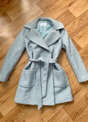 Двубортное пальто шерстяное в идеале lost ink
