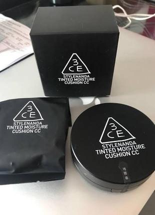 Сс-кушон 3ce tinted moisture cushion cc