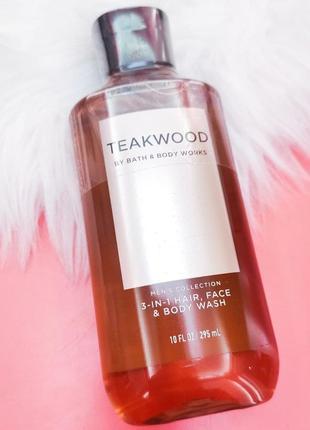 "Гель для волос и тела bath and body ""teakwood"" men's collection 2-in-1 hair + body wash"