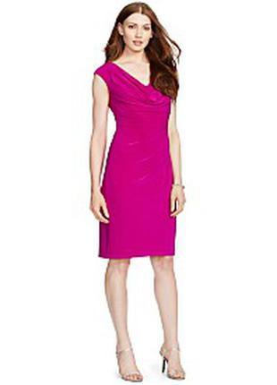 Платье ralph lauren малинового цвета. размер xs. оригинал