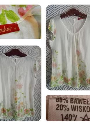 Verdini невесомая батистовая блуза-туника