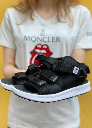 Босоножки босоніжки new balance black mesh/textile sandals 38-42