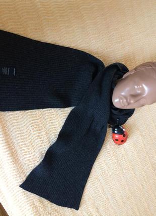 Шерстяной шарф серый gant