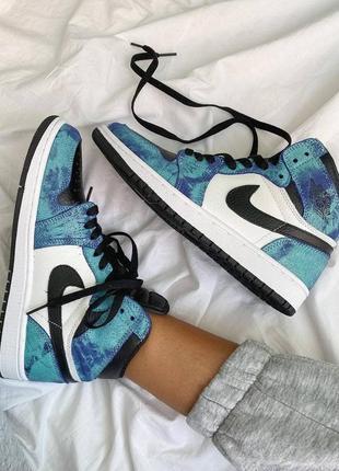 Nike air jordan 1🆕шикарные женские кроссовки🆕кожаные высокие найк🆕жіночі кросівки🆕на весну