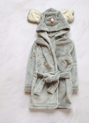Matalan   классный плюшевый  халат на девочку   18-24 мес