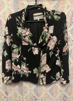 Косуха тканевая блузка цветочный принт