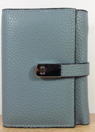 Женский кошелек конверт. шикарный серо-голубой цвет