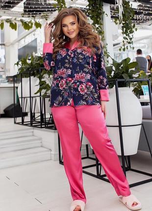 Замечательная, комфортная пижама свободного кроя, 50-56 размеры