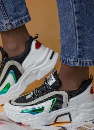 Дышащие 🌿 кроссовки женские платформа  кросівки