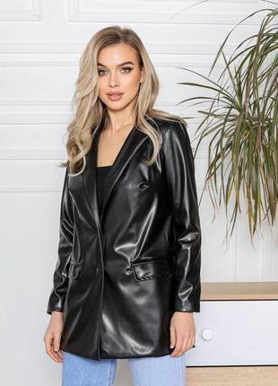 Топ 2021, супер модный пиджак жакет эко кожа