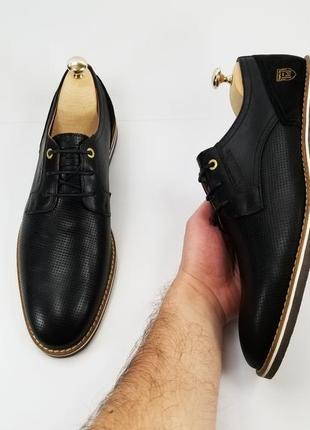 Чоловічі чорні шкіряні туфлі