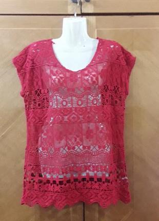 Ура !!!летняя распродажа!!!next новая  кружевная  полупрозрачная  блуза