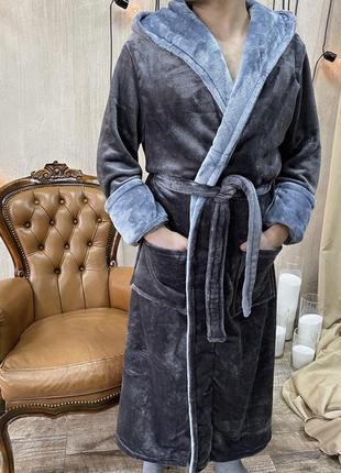Халат мужской плюшевый2 фото