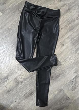 Теплые штаны из эко кожи