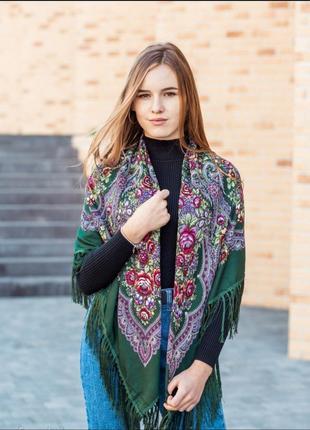 ❤роскошные турецкие шерстяные платки народные расцветки