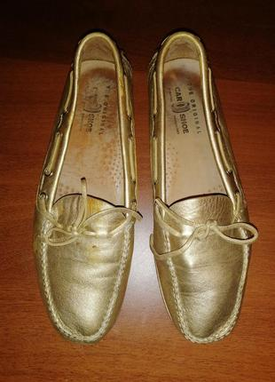 Мокасины кожаные car shoe (prada) италия