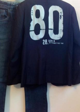 Стильный пиджак с надписью на спине