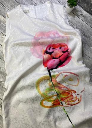 Женское платье, цвет айвори, акварельные цветы, размер l, бренд iren klairie