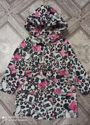 Шикарный халат мини маус фирмы disney,2-3 года