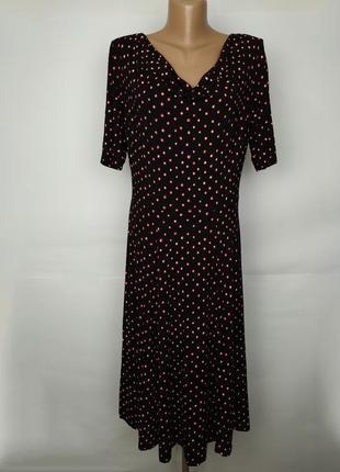 Платье трикотажное вискозное красивое в крапинку monsoon uk 14/42/l