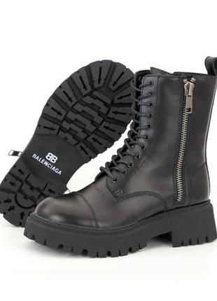 Женские зимние ботинки на меху наложка