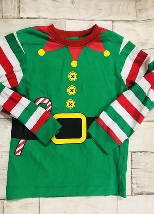 Новогодний свитер лонгслив для мальчика