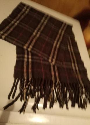 Полушерстяной мужской брендовый шарф