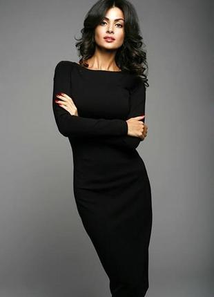 Черное платье футляр  new look
