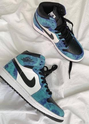 Nike air jordan 1 tie dye🆕 шикарные кроссовки найк🆕 купить наложенный платёж