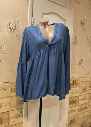 Блуза лиоцел джинсовая