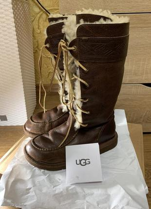 Сапоги, ботинки ugg на натуральной коже и овчине 37 размер