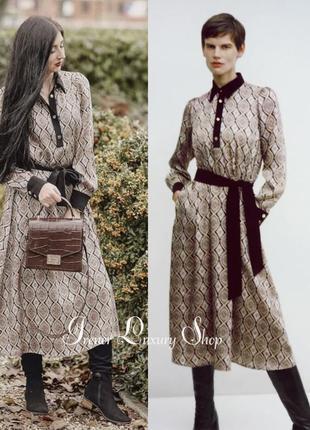 Изысканное  грациозное атласное платье zara м-l-хl -xxl