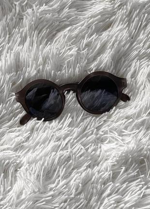 Солнцезащитные очки чёрные очки от солнца круглые очки