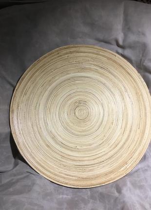 Тарелка бамбуковая декоративная