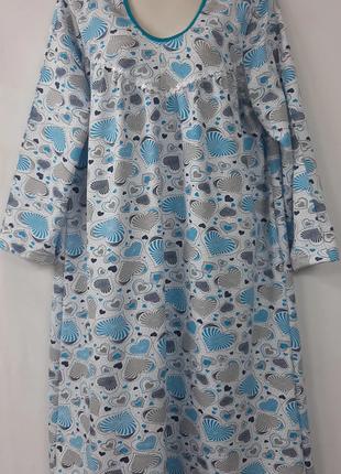 Теплая ночнушка /байковая сорочка/сорочка с начесом