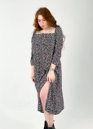 Платье большой размер в принт