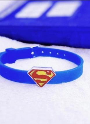 Силиконовый браслет с суперменом