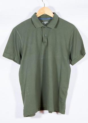 Оливковая футболка-поло женская