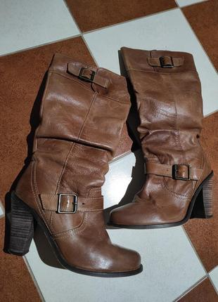 Кожаные сапоги new look
