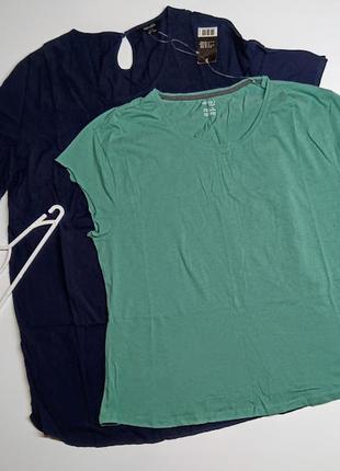 Батал. комплект из блузы туники и хлопковой футболки esmara/ размер xl/48/50