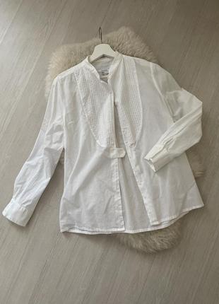 Блуза рубашка белая хлопковая