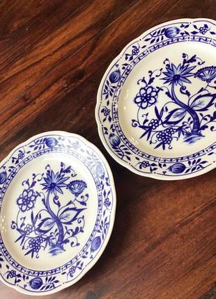 Тарелки десертные германия 🇩🇪 синий лук фарфор винтаж