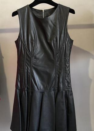 Платье натуральная кожа