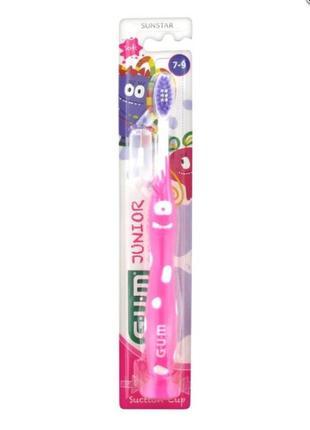Зубная щетка для детей 7-9 лет gum junior brosse à dents 7-9 ans