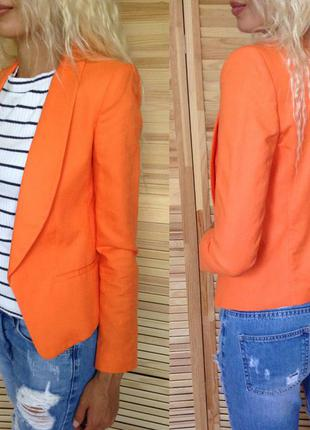 Шикарный оранжевый пиджак mango suit