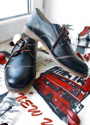 Кожаные туфли на шнурке mida 31124