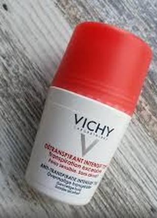 Шариковый дезодорант «72 часа защит» vichy détranspirant intensi