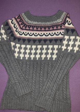 Шерстяной зимний свитер