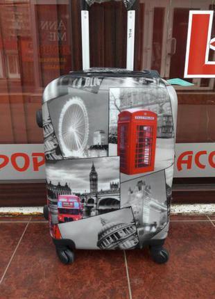 Середня валіза пластикова чемодан средний пластиковый без предоплат